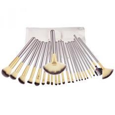 BESTOPE 24 Pcs Profesional Makeup Brushes Synthetic Kakubi Kosmetik Mac Makeup Brush Set dengan Kulit Tas Tas Tas Perjalanan