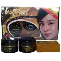 Bio Gold Whitening Cream Krim Wajah Biogold 3in1 BPOM - 1 Paket