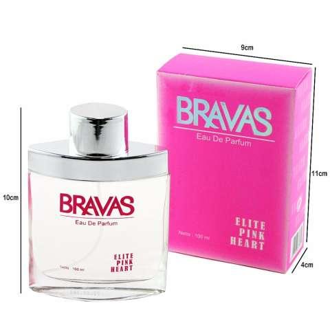 BRAVAS Original Elite Perfume XX-CT-671344 Eau De Parfum 100 ML - Pink