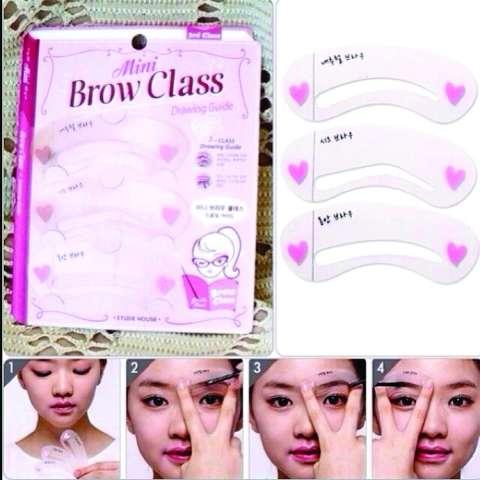 Cetakan Alis Mini Brow Class - Eyebrow Stencil - Isi 3 Pcs