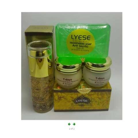 Jual Beli Cream Lyese Paket Cream Lyese Komplit Cream Siang Malam Sabun Hijau Plus Serum Original