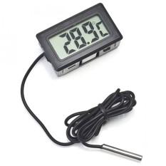 Digital Thermometer with Probe for Aquarium Length 1m Termometer Alat Pengukur Suhu Air Akuarium Sensor Kabel Temperatur -50 Sampai 100 Derajat Celcius Tahan Lama Mudah Dibaca LCD Display s8307 - White