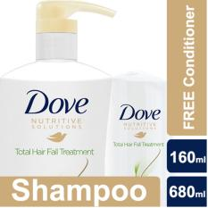 Dove Total Hair Fall Treatment Shampoo 680ml FREE Conditioner 170ml