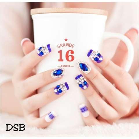 DSB-wedding fake nail-kuku palsu pernikahan-aksesoris kuku-hiasan pengantin-nail art(sesuai warna dan model pada gambar,bukan keterengan deskripsi) 1