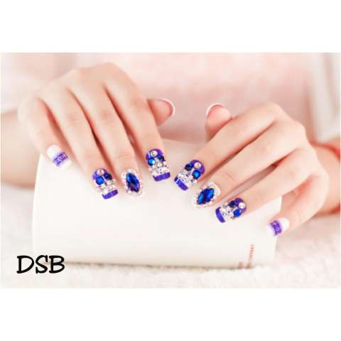 DSB-wedding fake nail-kuku palsu pernikahan-aksesoris kuku-hiasan pengantin-nail art(sesuai warna dan model pada gambar,bukan keterengan deskripsi) 2