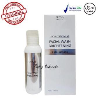 Promo Ertos Original Paket Ertos Serum Kinclong Ertos Night Cream Ertos Facial Wash Brightening - 3
