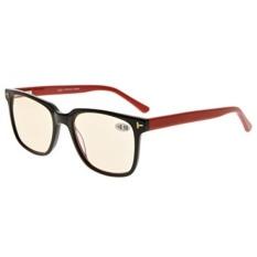 Eyekepper Amber Tinted Lens Berkualitas Optik Komputer Kacamata dengan Rx-mampu Bingkai Asetat untuk Pria UV & Biru Perlindungan Cahaya Hitam/Merah + 0.0-Internasional