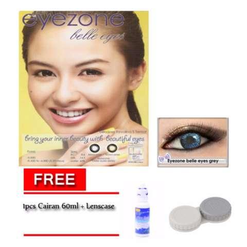 Harga Eyezone Belle Eyes Softlens Kontak Lensa Grey Free Cairan 60ml Lenscase Harga Rp 49.880