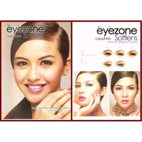 ... Eyezone Sapphire Softlens Brown Gratis Lenscase