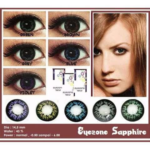 Eyezone Belle Eyes Softlens - Black Free Lenscase + Cairan 60ml. Source · Eyezone Sapphire Softlens - Grey + Gratis Lenscase