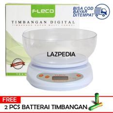 Fleco Timbangan Digital Kue telor tepung DLL akurasi 1gram-5kg  F117