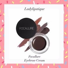 Focallure Eyebrow Cream Eye brow Dipbrow Pomade with Brush - No.5 (Ebony)