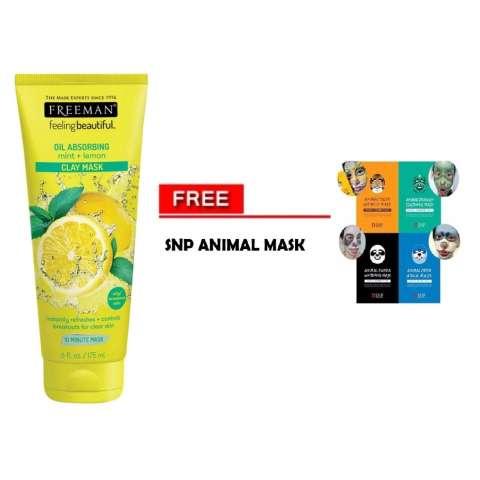 ... 60gr Harga Rp 52.200 - Mustika Ratu Peel Off Mask. Source · Freeman Lemon & Mint Clay Mask + Gratis SNP Animal Mask 1 pcs