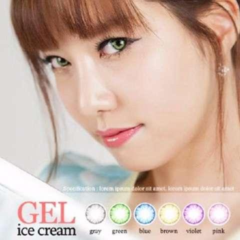 Gel Ice Cream Softlens - Black Free Lenscase + Cairan 60ml