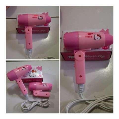 Hair Dryer Mini Motif Hello Kitty Pengering Rambut Praktis Modis Murah Bisa  di Lipat a39a9e986d
