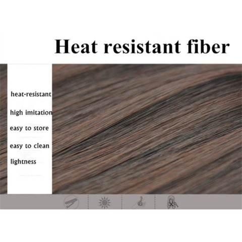 Home; Hair Extension Perpanjangan Rambut model klip clip wigs long curly 55 cm 12