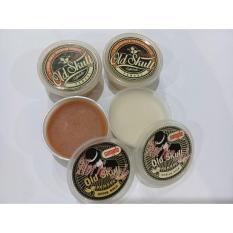 Hair Pomade Old Skull Edisi Sample - Medium Hold Coffeelatte + Free Sisir Saku - 1 Pcs