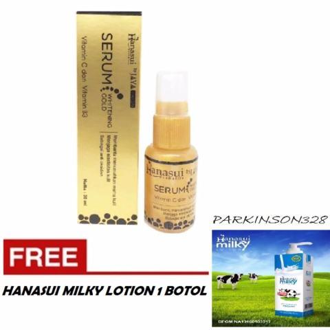 Hanasui Whitening Serum Gold Jaya Mandiri BPOM 1 Botol Free Hanasui Milky Whitening Lotion