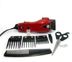 Happy King HK-900 Professional Hair Clipper Trimmer Mesin Alat Cukur - Merah