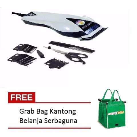 Happy King HK-900 Professional Hair Clipper Trimmer Mesin Alat Cukur -  Putih + Free a449b14675