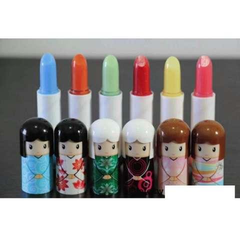 Harajuku Doll Lip Gloss - Lipbalm Boneka Kimono Jepang [24pcs]