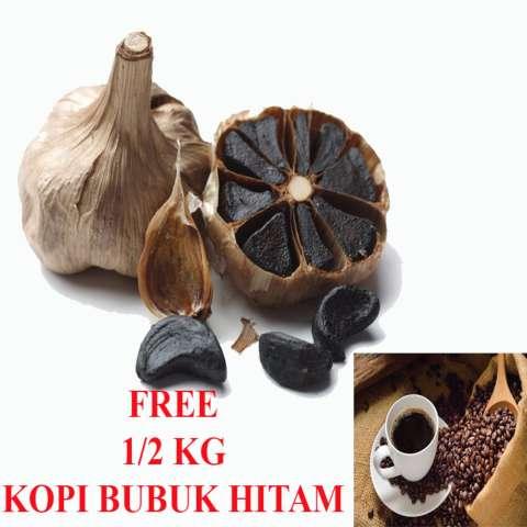 Herbal Suplemen Bawang Hitam Fermentasi Alami Untuk Kesehatan + Free 1/2 Kg Kopi Bubuk