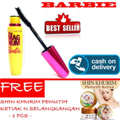 HOKI COD - Mascara Magnum Barbie - Maskara Waterproof - Model Barbie Warna Hitam Premium Quality