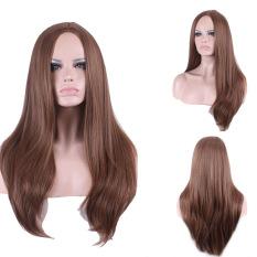 La Vie Seksi Central Perpisahan Panjang Alami Wanita Penuh Cosplay Wig (Coklat)