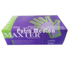 Putra Medica Maxter Handscoon Disposable - S [Putih] / Sarung Tangan Karet Latex Non Steril Sekali Pakai / Handscon / Handskun