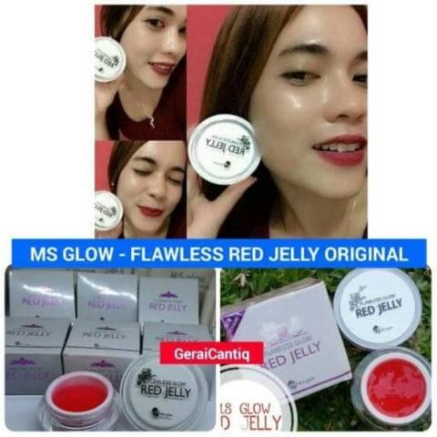 MS GLOW FLAWLESS GLOW RED JELLY BPOM ORIGINAL