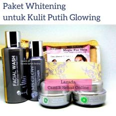 MS GLOW Whitening Series Original 100% / Cream Pemutih Wajah / Pencerah Wajah / Cream Glowing /Paket Perawatan Wajah Kulit Normal @ Cantik Sehat