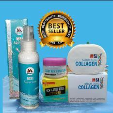 Msi Paket =msi ion silver spray +msi sabun collagen +cream gamat reaksi cepat