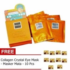 Naturgo Masker Lumpur - 10 pcs + Gratis Collagen Crystal Eye Mask / Masker Mata - 10 Pcs