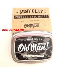 New Oh Man! Ohman Army Clay Professional Matte Pomade Water Based Waterbased