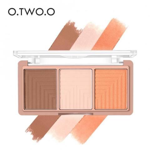 4 In 1 Empat Warna Kontur Shading Ditekan Bubuk Sorot Make Up Source · O 4