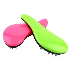 OH Magic Handle Tangle Detangling Comb Shower Hair Brush Salon Styling Tamer Tool green