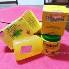 Original Impor Paket Cream Temulawak Whitening Cream Emboss (Day+Night) + Sabun Temulawak WIDYA ASLI Memutihkan Kulit Lembut Merona Cantik