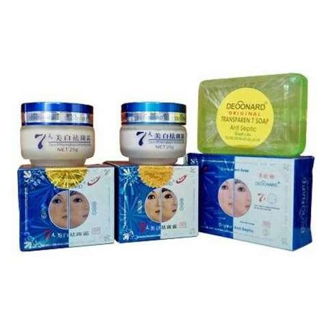 Paket Cream Deoonard Blue 7 Day Antiseptic Soap - Krim Deoonard Biru Original Sabun Hijau