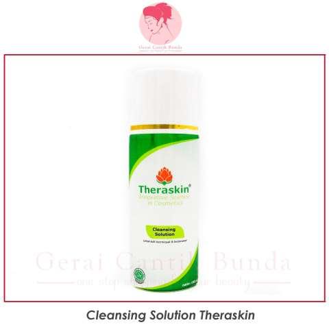 Paket perawatan kulit berjerawat dan pori-pori besar Theraskin (facial wash acne, cleansing solution, suncare oily, serum pore minimizer, krim malam acne white)- gerai cantik bunda 2
