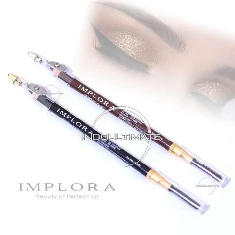 2in1 Pensil Alis & Sikat Alis dalam satu kemasan / IMPLORA / Pencil .