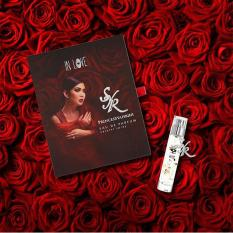 Princess Syahrini In Love Parfum Original 100% - Eau de Parfume - Dengan Liontin Kalung Swarovski Asli Initial SYR(Syahrini) Asli