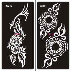 Pro 1 Sheet Hand-Painted Hollow Mold Inkjet Tattoo Henna Templates Stickers For DIY Tools Professional New Body Painting Kit