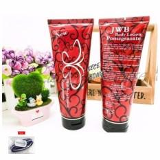 Red Pome Whitening Lotion Original Korea Import Sunblock SPF 50+ Antioksidan - Pemutih Kulit - 200 Gr + Free Ikat Rambut Polkadope - 1 Pcs