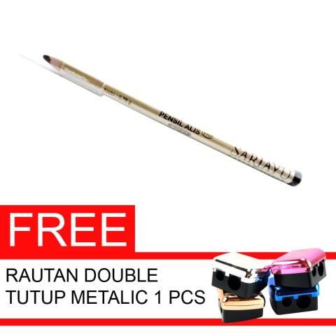 Jual Sariayu Pensil Alis Pro Coklat Gratis Rautan Double Tutup Metalic 1 Pcs Harga Rp 35.000