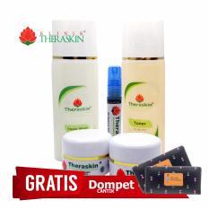 Theraskin Paket Oily/ Kulit Berminyak Untuk Atasi Bopeng / Scar + Serum A003L + GRATIS DOMPET
