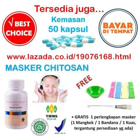 Tiens Herbal-- Masker Chitosan / Masker Wajah / Obat Jerawat / Pembersih Komedo /