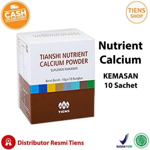 Beli Tiens Nutrient Calcium Powder Kalsium Untuk Tulang Patah Retak Osteoporosis Dan Peninggi Badan Harga Rp
