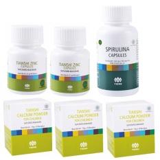 Tiens Peninggi Badan Anak Premium  30 Hari (3 Calcium Anak + 2 Zinc + 1 Spirulina)