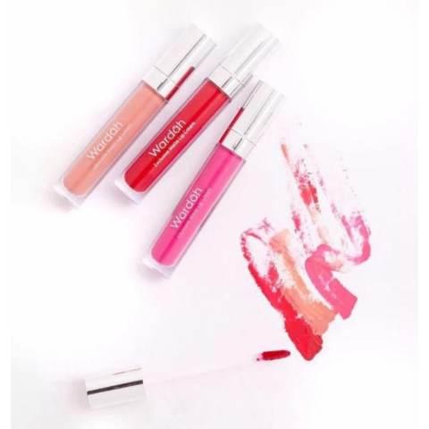 Wardah Exclusive Matte Lip Cream 04 Pink Me dan 06 Feeling Red