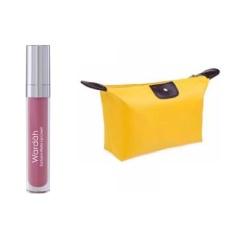 Wardah Exclusive Matte Lip Cream 04 Pink Me Free Alisha Tas Kosmetik Mini - Kuning
